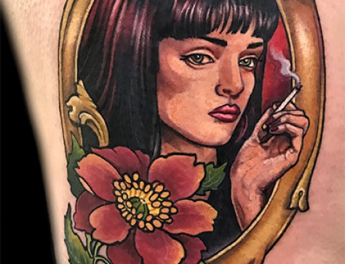 Uma Pulp Fiction Tattoo