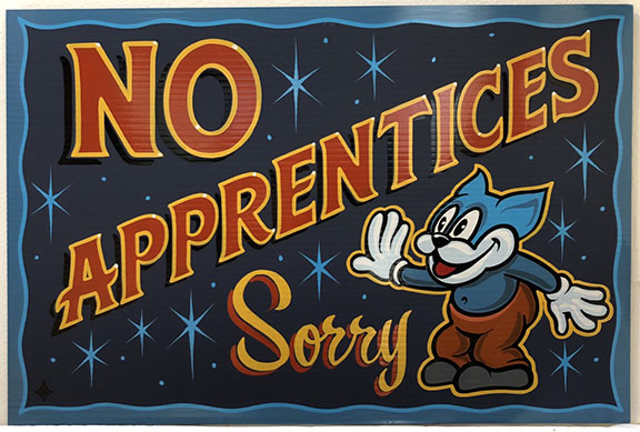 Sorry, we have no Apprenticeships today. - Midnight Moon Tattoo