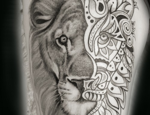 Lion Mandala Tattoo