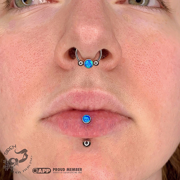 Fresh Vertical Labret with healed septum